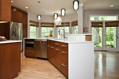 Nice This Kitchen Remodel Features A Clean Design Of Mid Century Modern Style  And A Spotlight On A Variety Of Wood Types As Well As Custom Artwork.